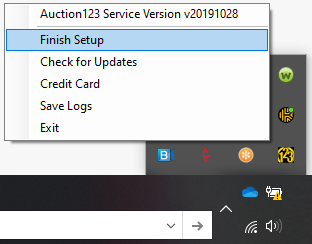 Application Finish Setup